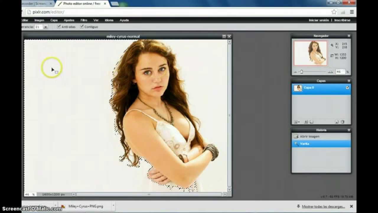 Como crear una imagen Png (sin fondo) En el pixlr.com.