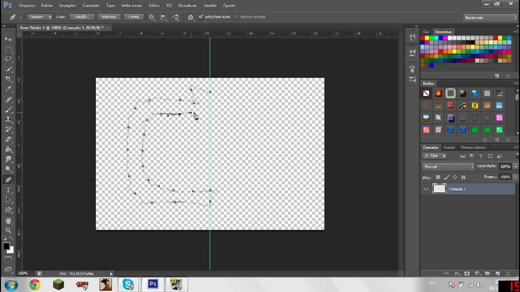 Como fazer bordas/molduras no photoshop cs6.