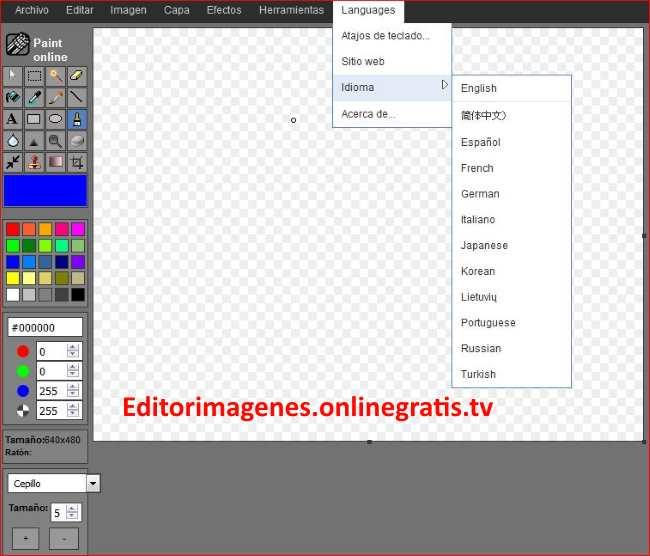 Editor de imagenes Png, Jpg, Json, .Gif, .WEBP, .BMP..