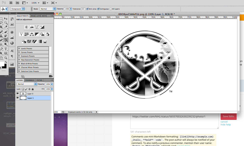 Cómo hacer un archivo .PNG que muestre una imagen sobre un fondo.