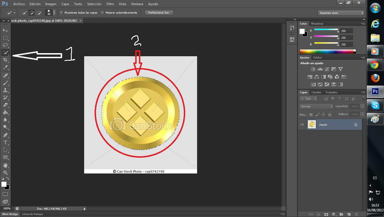 Hacer o transformar imagen a formato PNG en photoshop.