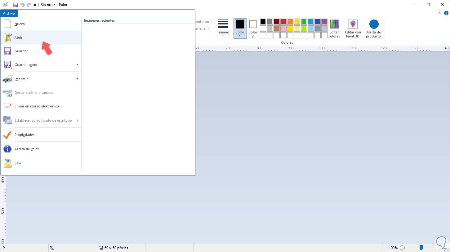Cómo hacer imagen con fondo transparente en Paint y Paint 3D.