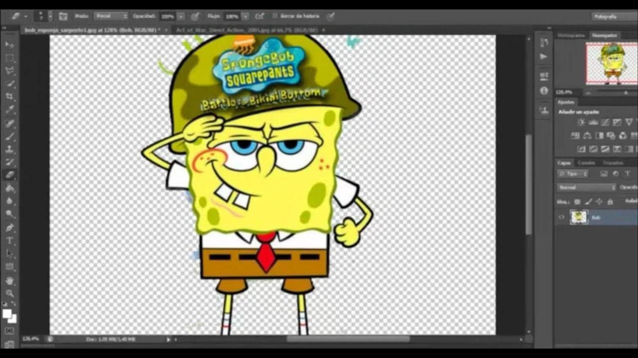 Como hacer imagenes PNG en Adobe Photoshop CS6 (HD).