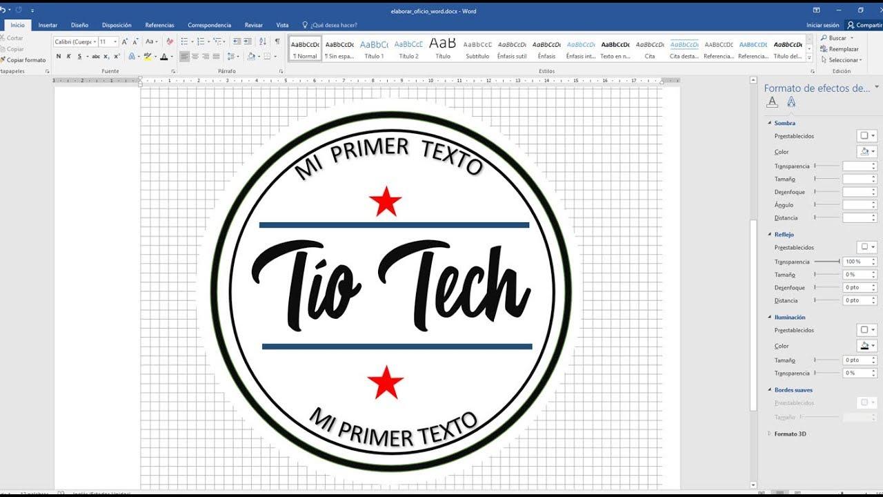 Cómo hacer un logo en Word.