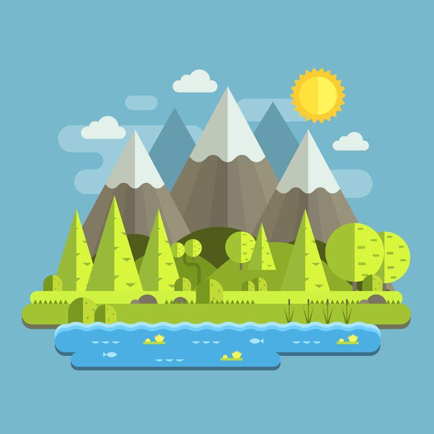 Resultado de imagen para como hacer un paisaje en adobe.