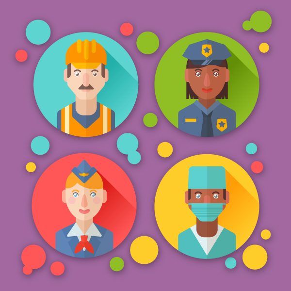 How to Create Flat Profession Avatars in Adobe Illustrator.
