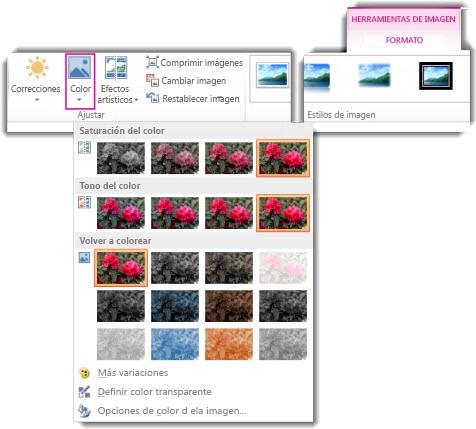 Cambiar el color de una imagen.