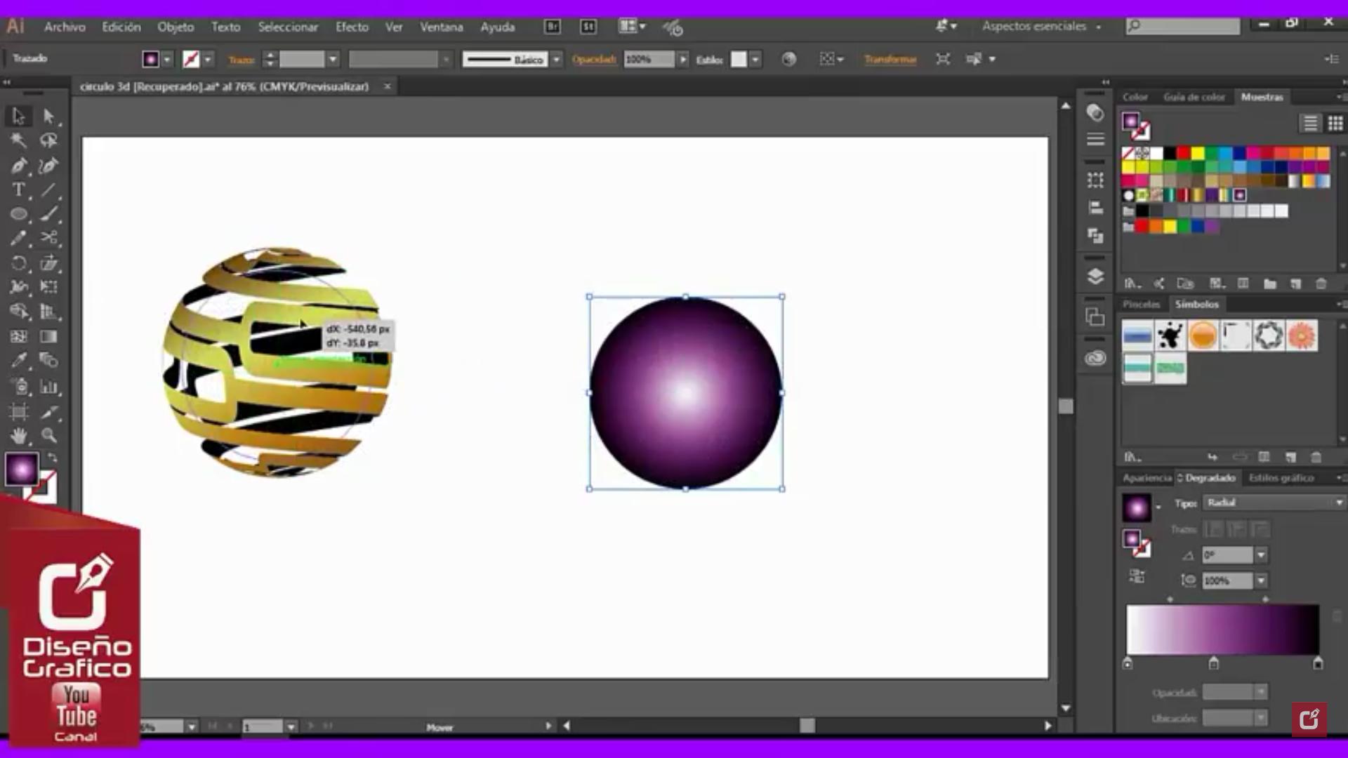 Nuevo tutorial para hacer un logo 3D Adobe Illustrator.