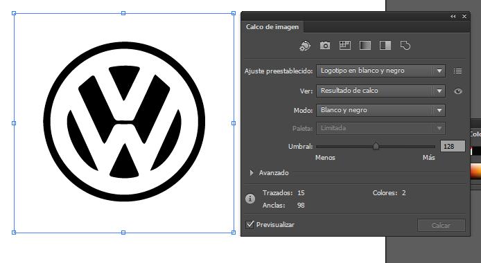 Herramientas de diseño » Vectorizar una imagen con Illustrator.