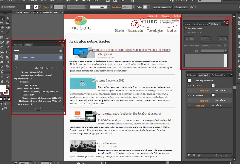 Herramientas de diseño » Crear un enlace para exportar a pdf.