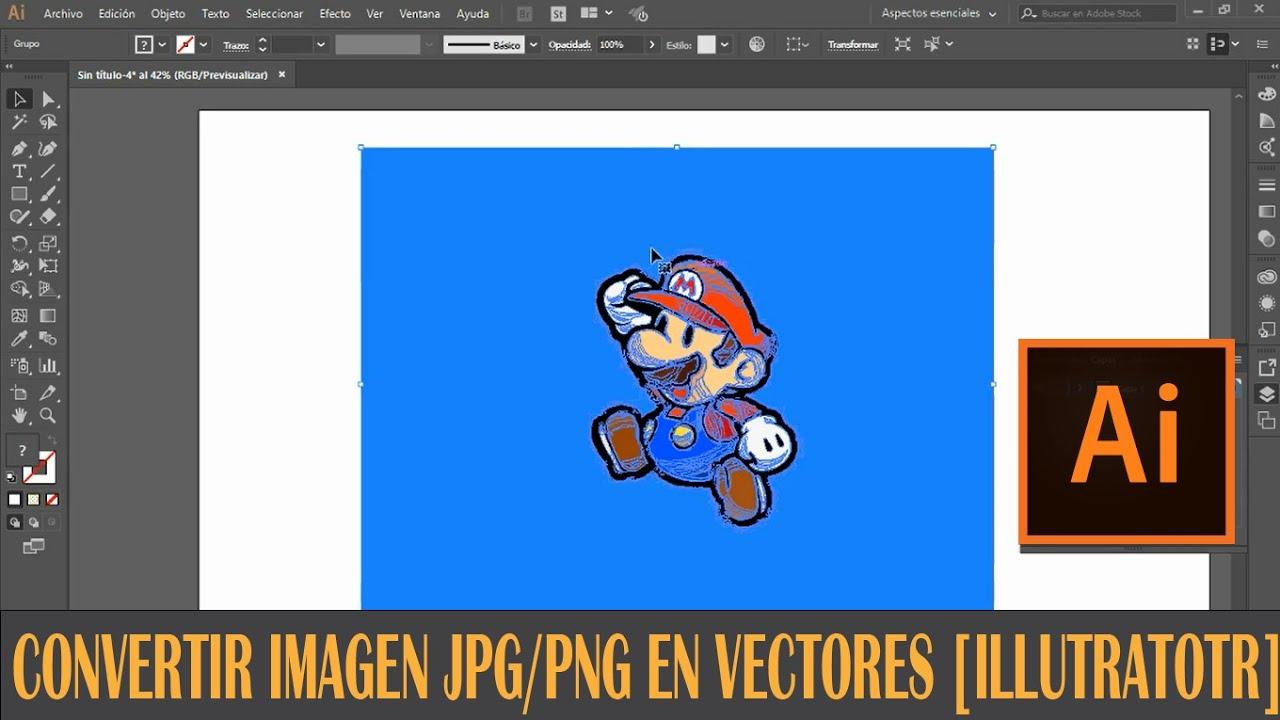 Convertir Imagen JPG,PNG a vectores [ ILLUSTRATOR ].