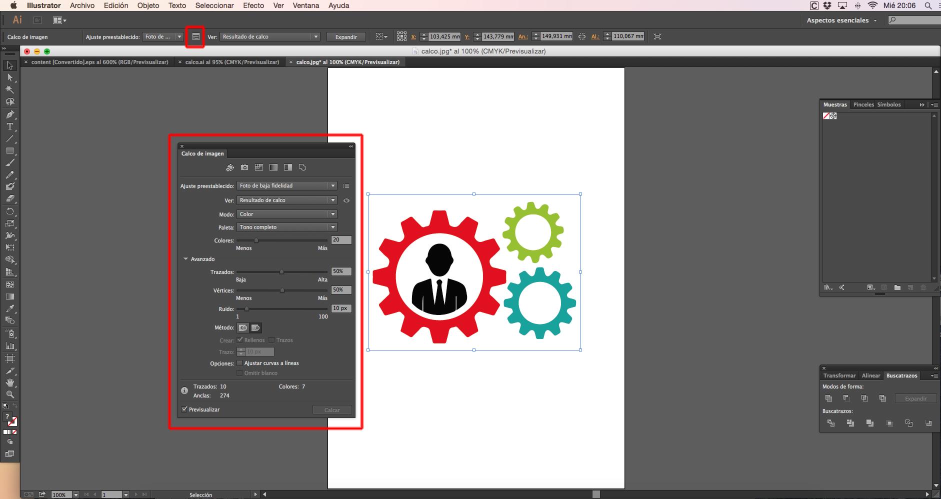 Calco Interactivo Illustrator: explicación paso por paso.