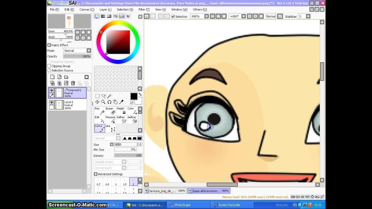Como hacer una doll PNG en Paint Tool SAI.