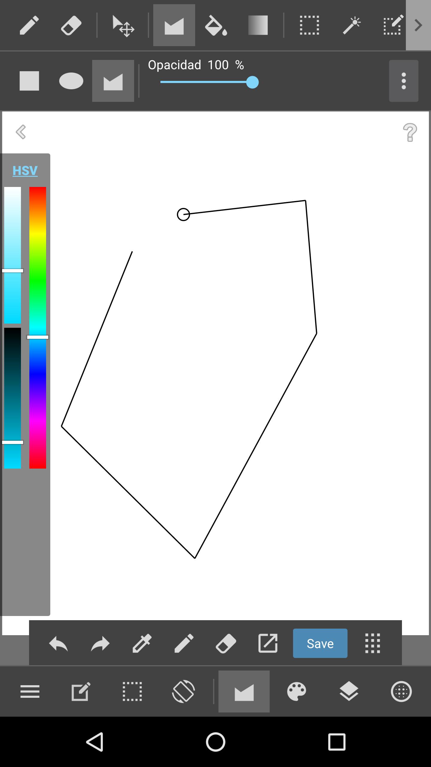 Hacer Figuras en MediBang Paint para Android.