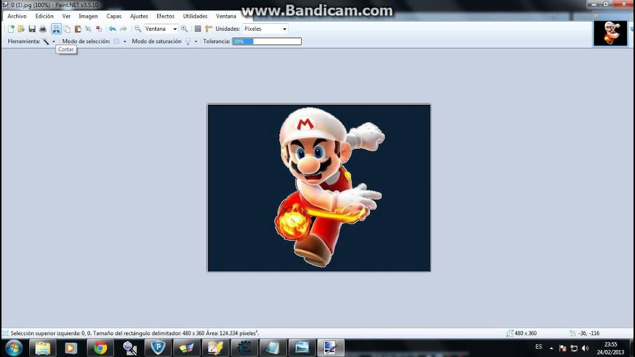 como hacer Imagenes PNG con paint.net.
