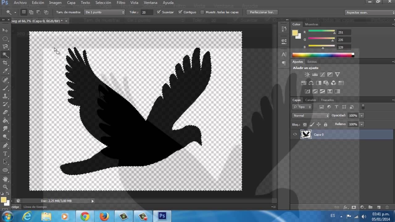 Cómo guardar una imagen con fondo transparente en Photoshop CS6.