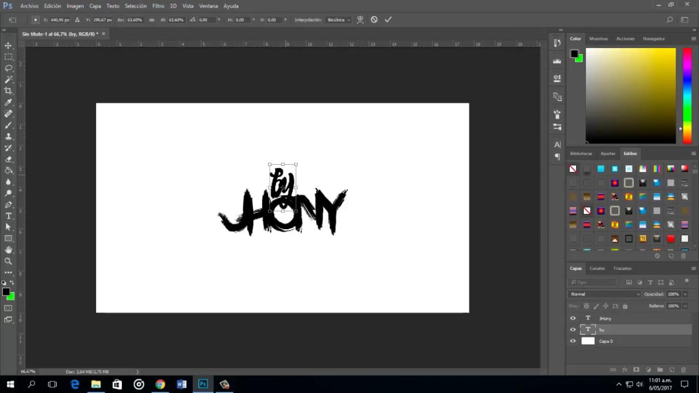Tutorial: Cómo hacer letras Cartoon en Photoshop.
