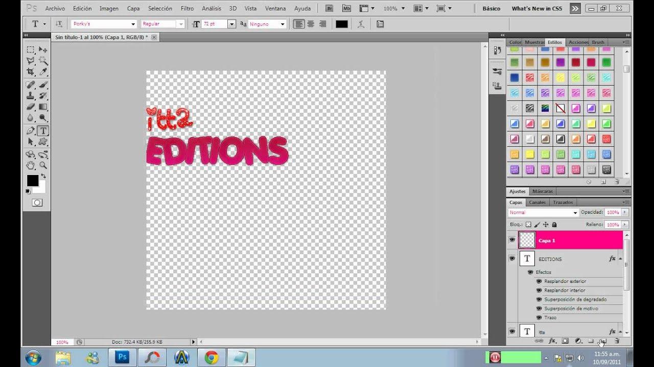 Como Hacer Un logo Png en photoshop //Itta.