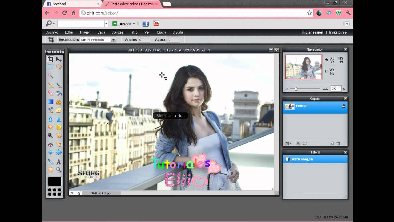 Como hacer una foto png en Photoshop y Photoshop Online.
