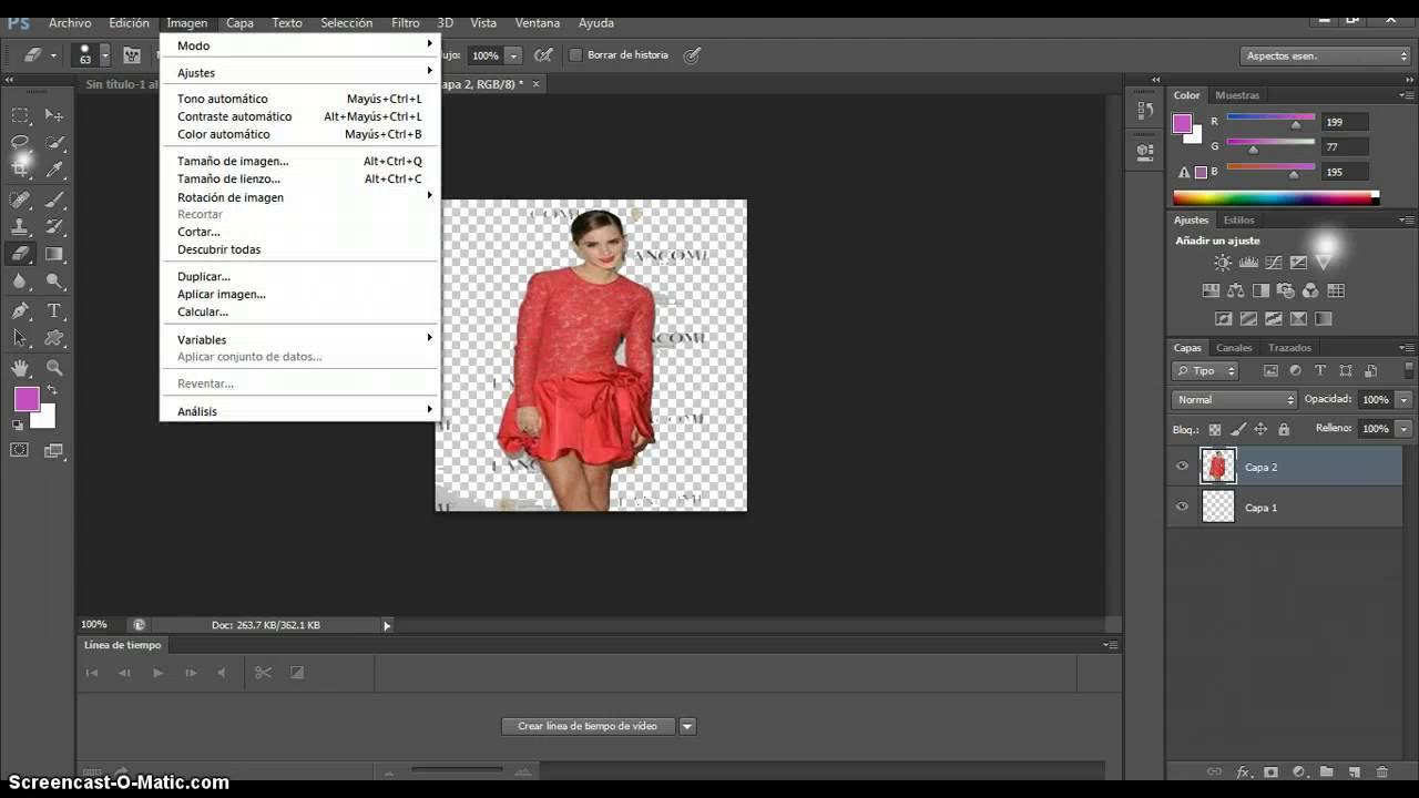 Como hacer una imagen PNG en PhotoShop cs6.