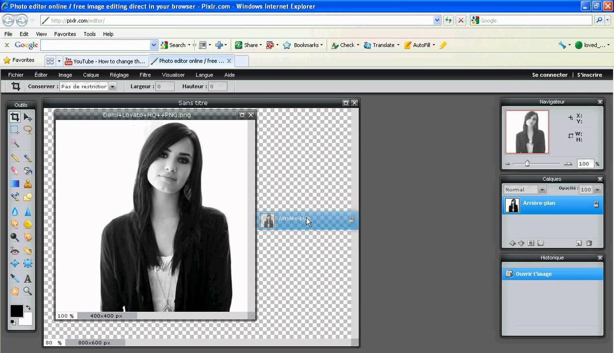 Como Hacer una Foto PNG en Pixlr.com.