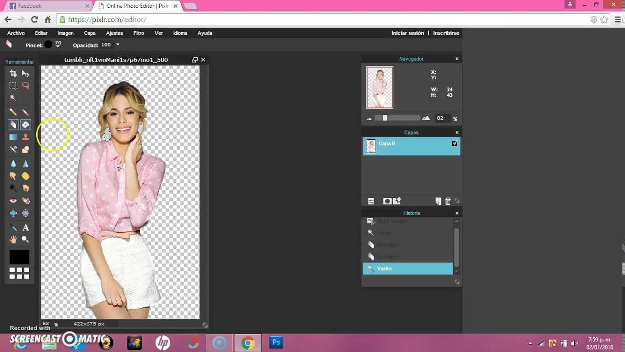 Tanii Ediciones: Como Hacer Una Imagen Png En Pixlr (:.