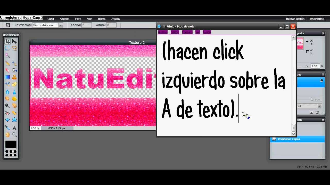 Como Hacer Un Texto Png En Pixlr.