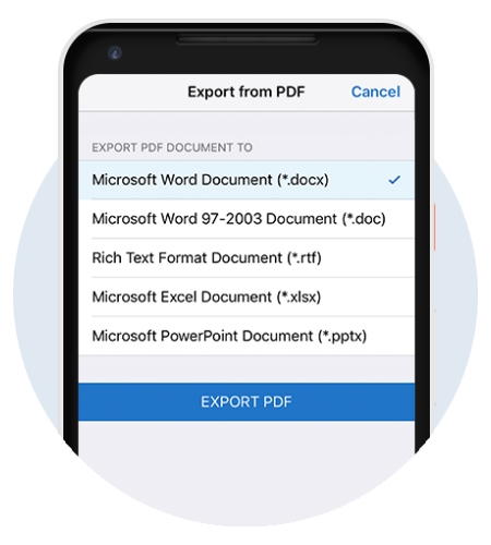 Adobe Acrobat Export PDF.