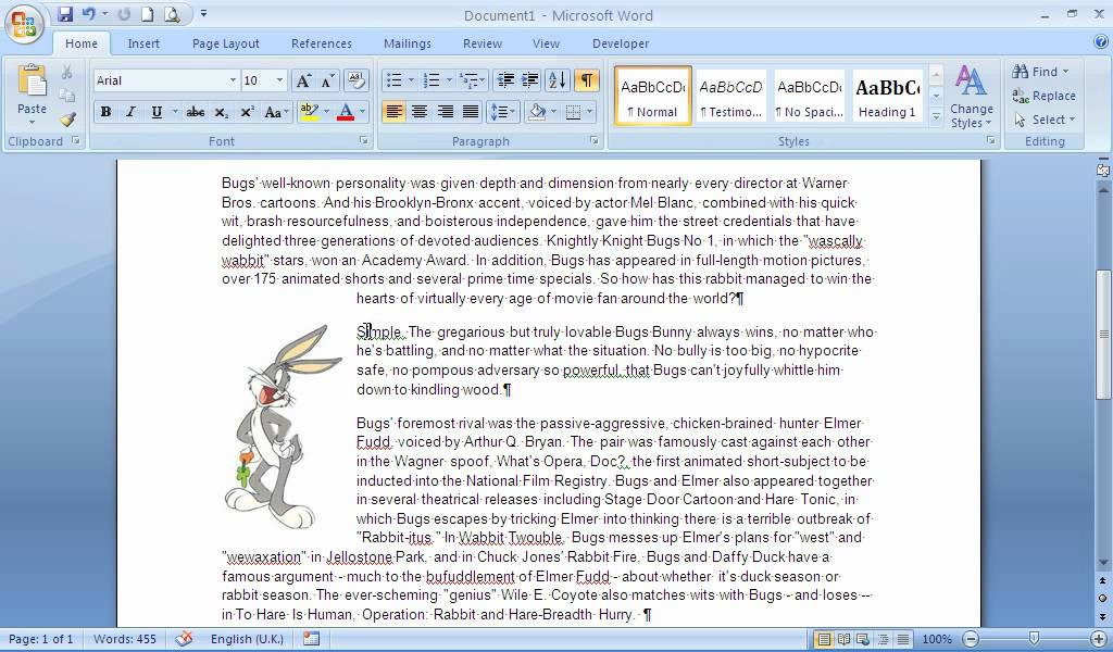 The Picture Anchor Tool in Microsoft Word.