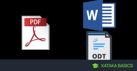 PDF a texto: Cómo convertir un PDF a Word u ODT online y sin.