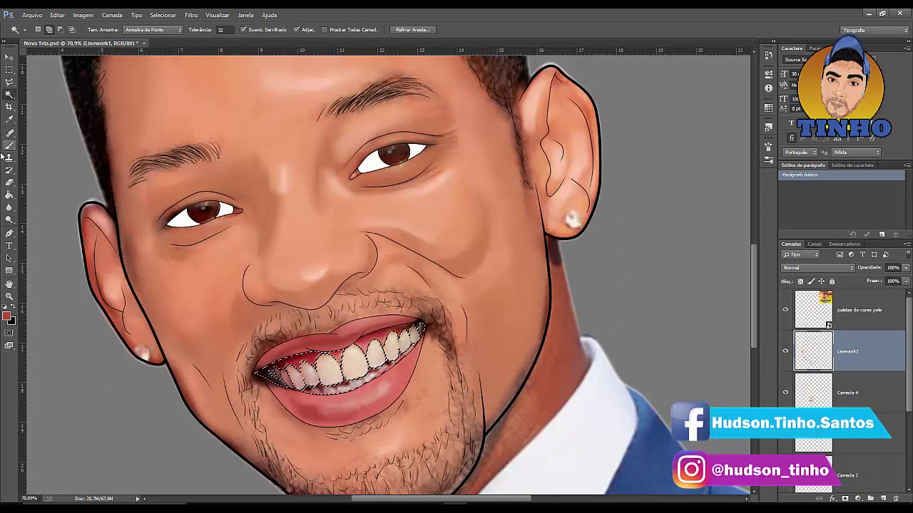 Transformar foto em desenho Photoshop.