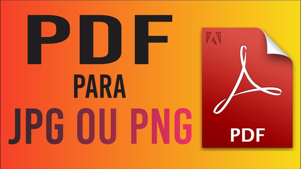 Converter arquivos PDF para .JPG ou .PNG online.