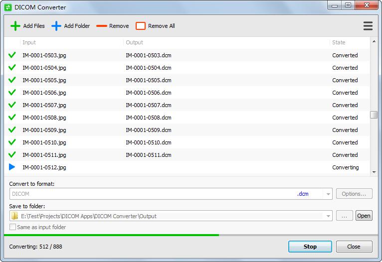 Convert DICOM to JPEG/PNG/BMP/TIFF and Convert JPEG/PNG/BMP/TIFF to.