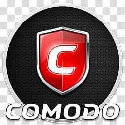 Logos icons and , comodo firewall , blue and white shield.