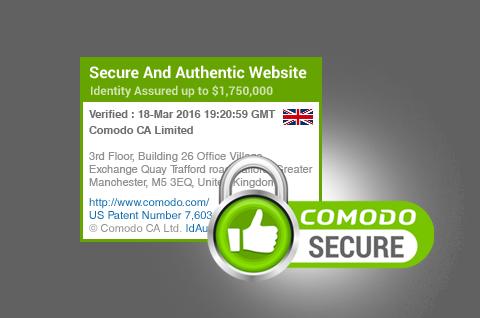 Sectigo Secure Site Seal.