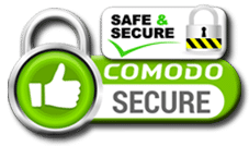 Comodo Safe and Secure Online Shopping SSL Seal.