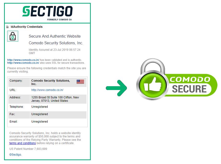 News: Comodo Secure Site Seal is Rebranded as Sectigo Site Seal Now.