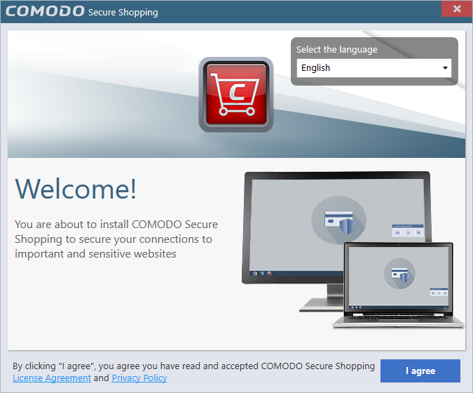 Install Comodo Secure Shopping, Secure Online Purchases.