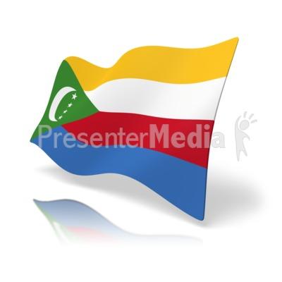 Flag Comoros.