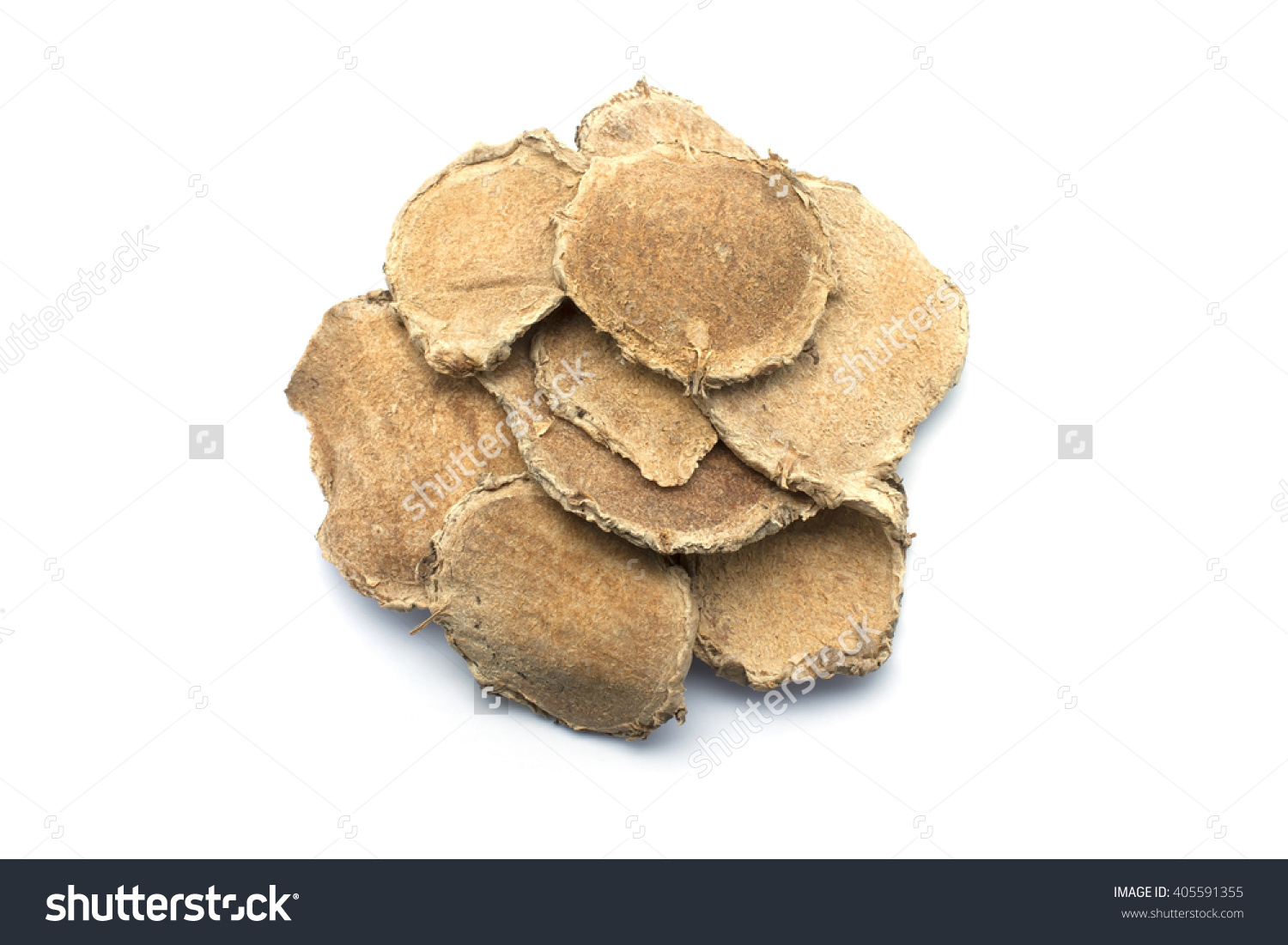 Slices Curcuma Comosa Dried Rhizome Herb Stock Photo 405591355.