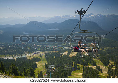 Stock Photo of The Eagle chairlift at Mount Washington, Comox.