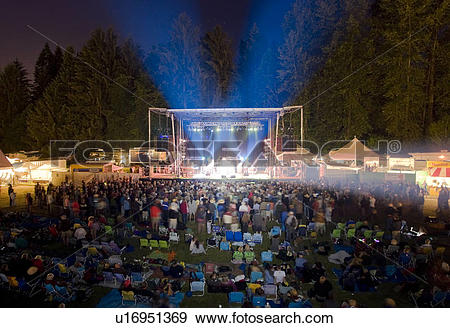 Stock Photograph of The Comox Valley's annual music festival.
