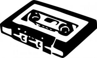 Compact Cassette clip art.