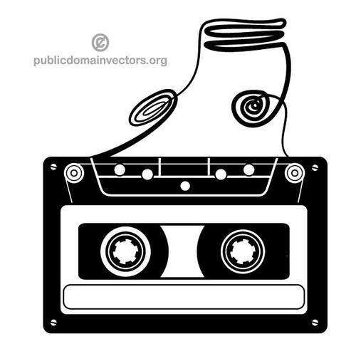 Compact cassette clip art image.