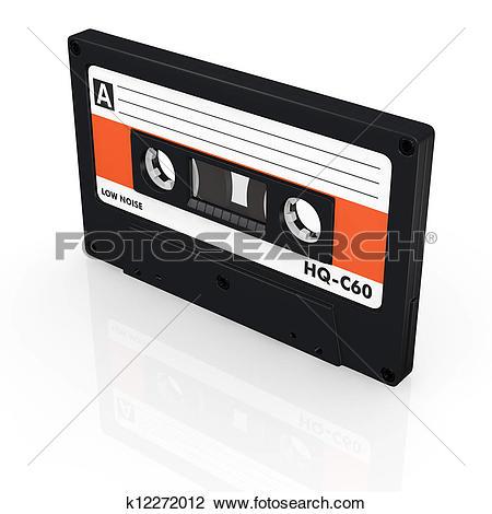 Clip Art of compact cassette k12272012.