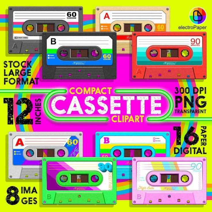 Compact Cassette Clipart.