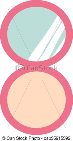EPS Vectors of Makeup compact face powder with mirror fashion.