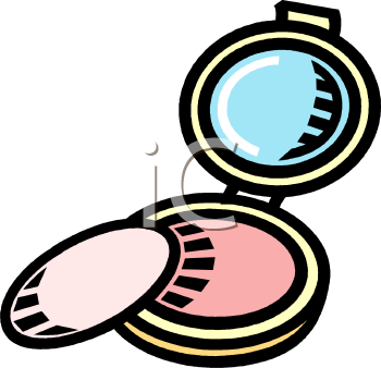 Royalty Free Clipart Image: Face Powder Compact.
