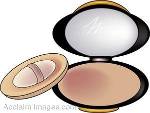 Makeup Compact Clipart.