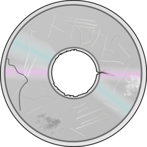 Severely Damaged Compact Disc Clip Art at Clker.com.